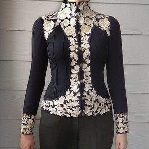 Nicole Miller Floral Embroidered Jacket